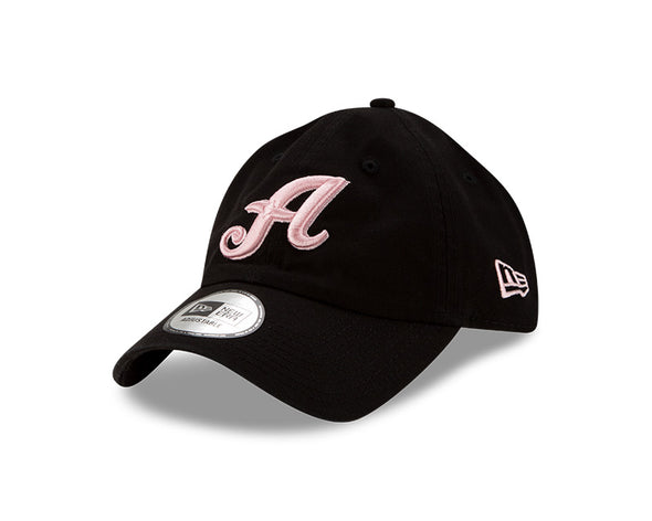 "New Era ""A"" Logo Casual Classic Twill Black/Pink Adjustable Cap"