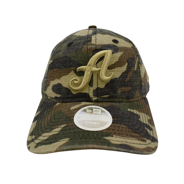 "New Era Women's ""A"" Logo Camo Preferred Pick Adjustable Cap"