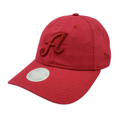 "New Era ""A"" Logo Pick Adjustable Cap Red"