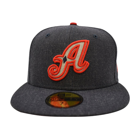 "New Era ""A"" Logo Heather 59fifty Fitted Hat"