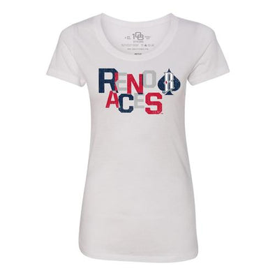 108 Stitches Women's Reno Aces Stacked Tee