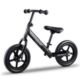 "Kids Balance Bike Ride On Toys Puch Bicycle Wheels Toddler Baby 12"" Bikes Black"