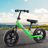 "Kids Balance Bike Ride On Toys Puch Bicycle Wheels Toddler Baby 12"" Bikes Green"