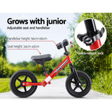 "Kids Balance Bike Ride On Toys Puch Bicycle Wheels Toddler Baby 12"" Bikes Red"