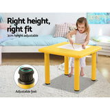 Keezi 5 Piece Kids Table and Chair Set - Yellow