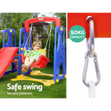Keezi 3-in-1 Slide Swing with Basketball Hoop