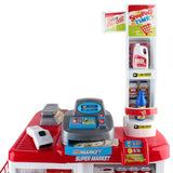 Keezi 24 Piece Kids Super Market Toy Set - Red & White