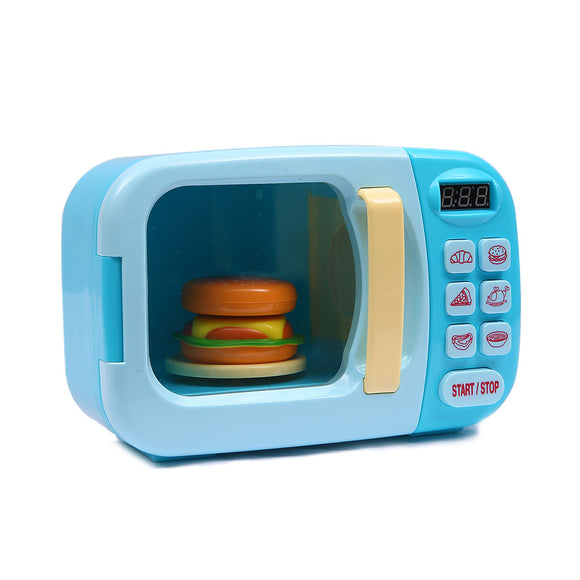 32x Kids Kitchen Play Set Electric Microwave Oven Pretend Play Toys Cooking Blue