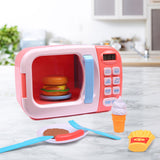 32x Kids Kitchen Play Set Electric Microwave Oven Pretend Play Toys Cooking Pink