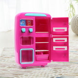 Kids Play Set 2 IN 1 Refrigerator Vending Machine Kitchen Pretend Play Toys Pink