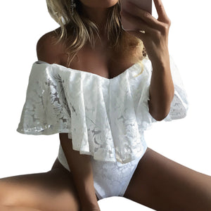 The Off Shoulder Lace Bodysuit