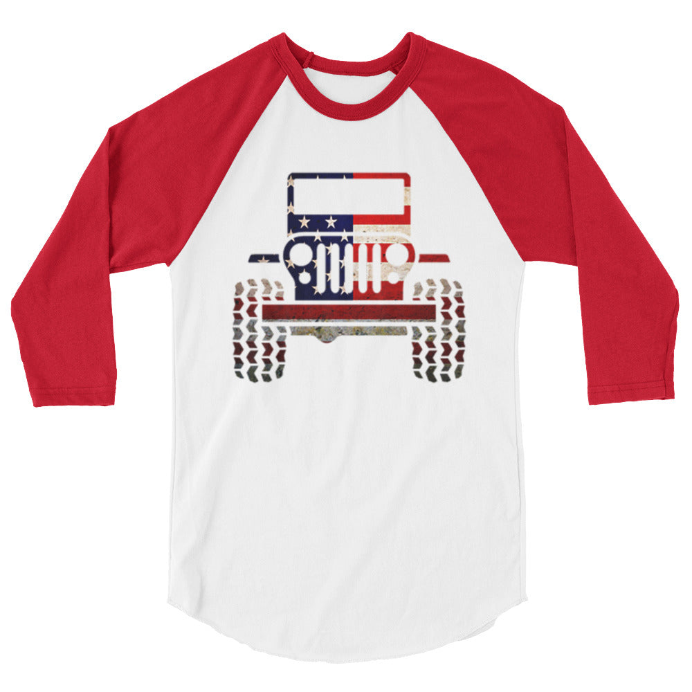 Merica' Jeep Unisex Baseball Shirt