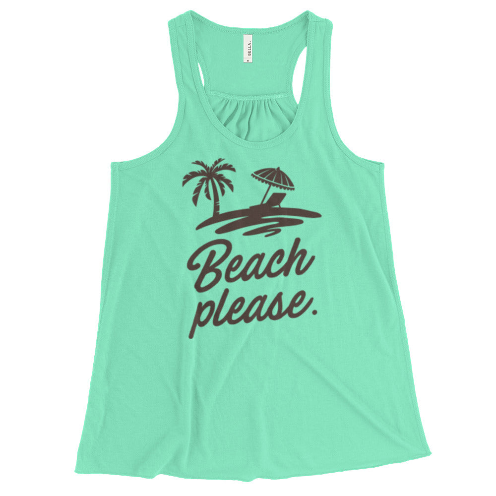 Beach Please Flowy Racerback Tank