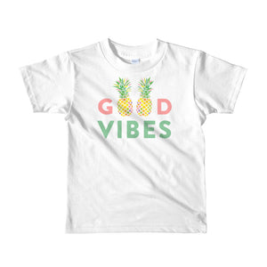 The Pineapple Good Vibes 2-6 Years Old Child Short-Sleeved Tshirts