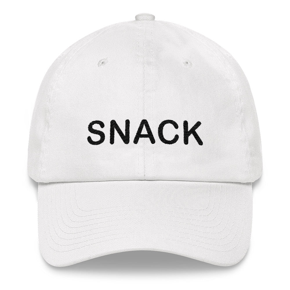 Snack Dad hat Black Embroidery