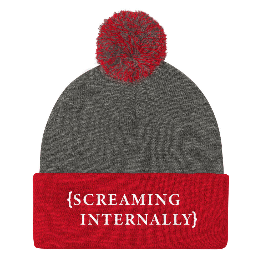 Screaming Internally Pom Beanie