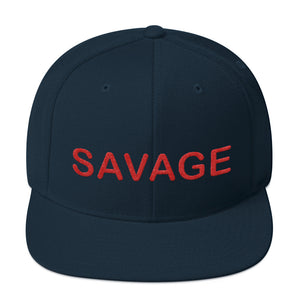 Savage Red Snapback Hat