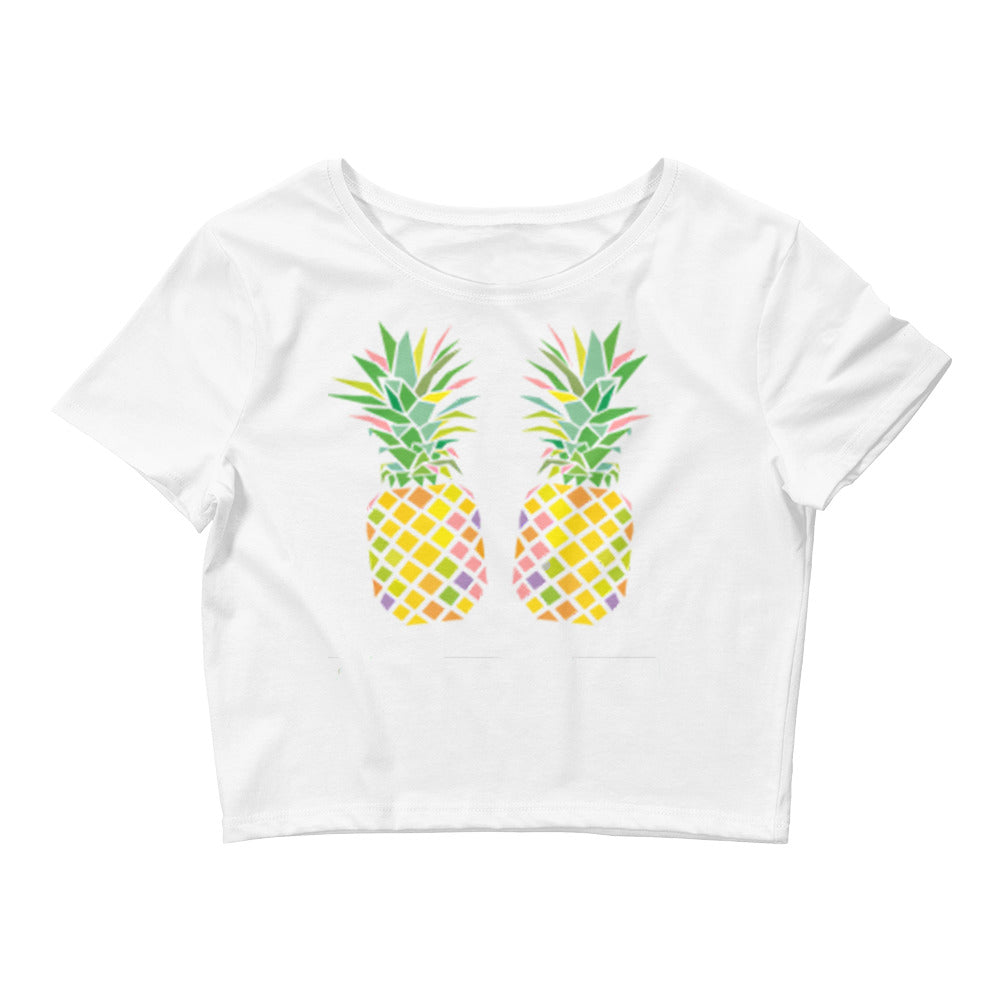 Pineapple Boobs Crop Tee