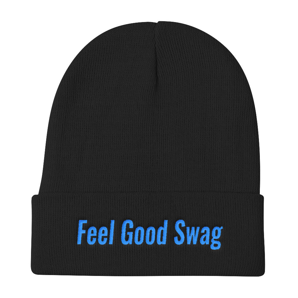 FGS Blue Embroidery Knit Beanie