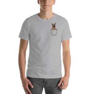 German Shepherd Pocket Unisex T-Shirt