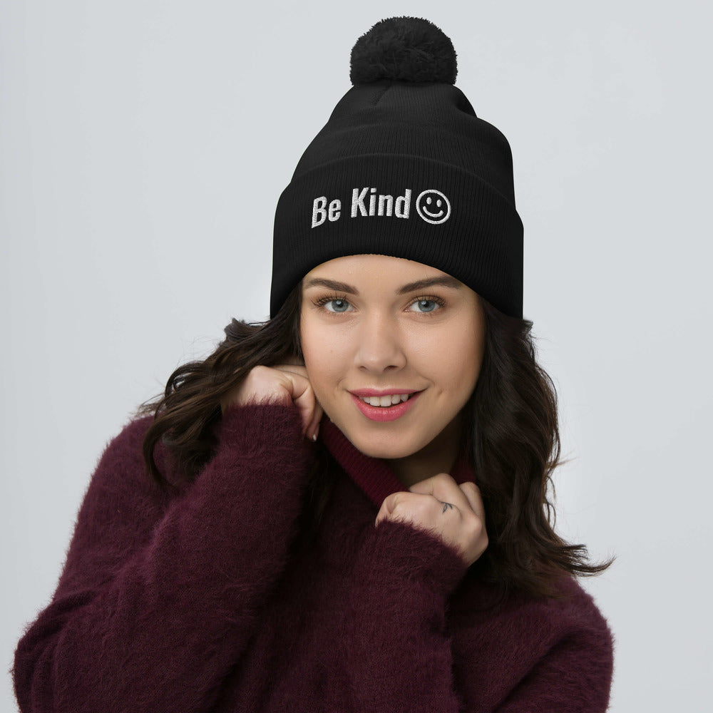 Be Kind Pom-Pom Beanie