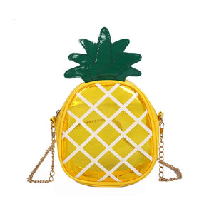 Trendy Women Transparent Jelly Package Coin Purses Female Pineapple Shape Chain Convenient Coin Purses
