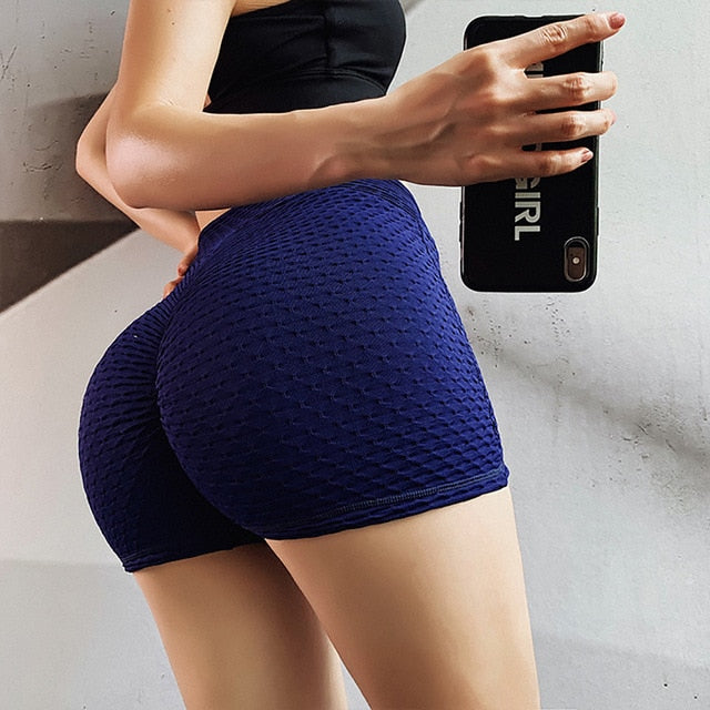 RUUHEE Solid Fitness Short Pants for Women Yoga Leggings for Training Sports Running Clothing Energy Sportswear Summer Gym Wear
