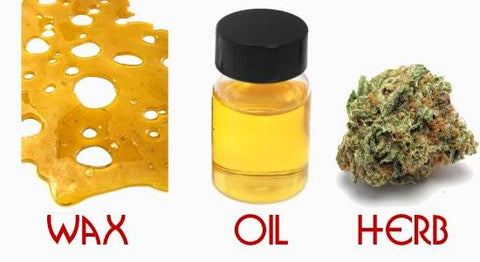 wax, oil, and herbs