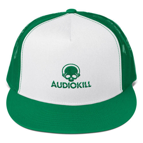 AUDIOKILL Trucker Cap - GREEN / GREEN