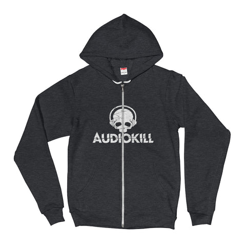 AUDIOKILL Zip Fleece Hoodie-DARK GRAY
