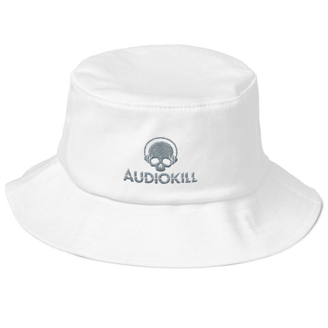 AUDIOKILL Old School Fisherman Hat-WHITE/GRAY