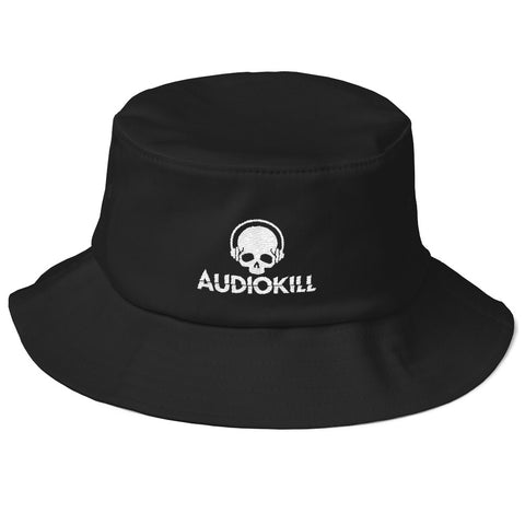 AUDIOKILL Old School Fisherman Hat-BLACK/WHITE