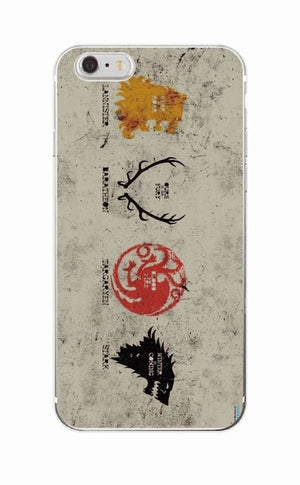 4 Kingdoms Game Of Thrones Soft Phone Case