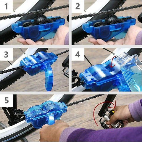 Image of Bicycle Chain Cleaner Scrubber Brushes Mountain Bike Wash Tool Set Cycling Cleaning Kit Bicycle Repair Tools Bicycle Accessories - cybernetshop