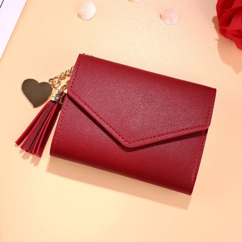 Image of Mini Tassel Wallet Women Fashion Purse Female Short Mini Wallets for Women - cybernetshop
