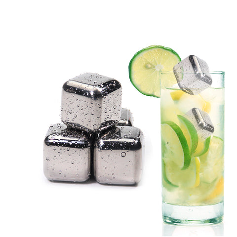Image of Stainless Steel Ice Cubes, Reusable Chilling Stones for Whiskey Wine, Keep Your Drink Cold Longer, SGS Test Pass - cybernetshop