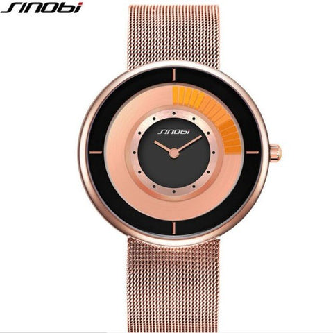 Image of Sinobi Fashion Unique Rotating Luxury Unisex Thin Watch