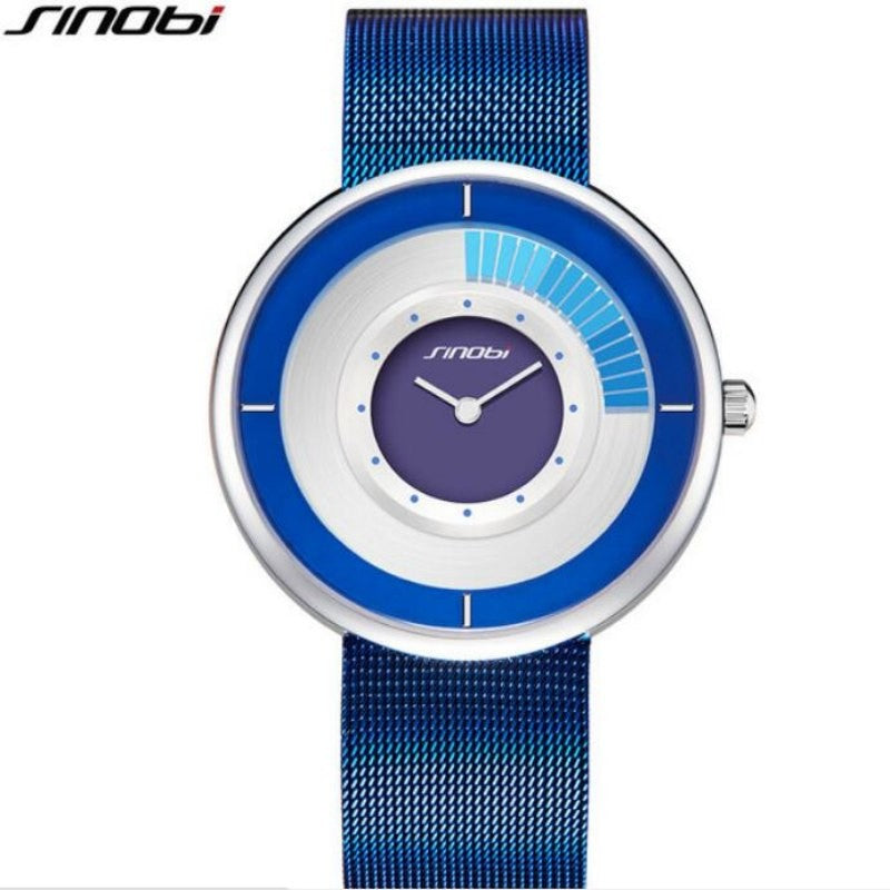 Sinobi Fashion Unique Rotating Luxury Unisex Thin Watch