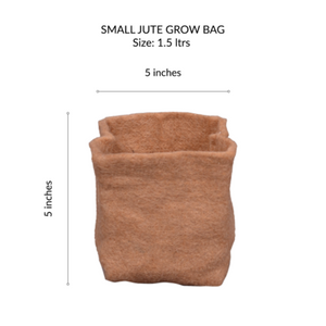 JUTE GROW BAGS - SMALL (PACK OF 8)