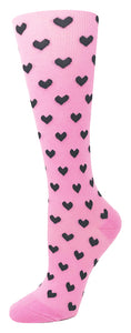 15-20 mmHg Knit Compression Socks – Large Pink - Pure Hearts Scrubs