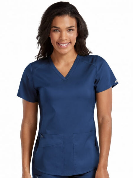 V-Neck Shirttail Top - Pure Hearts Scrubs