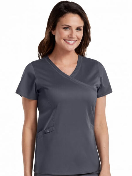 Med Couture Mock Wrap Top - Pure Hearts Scrubs