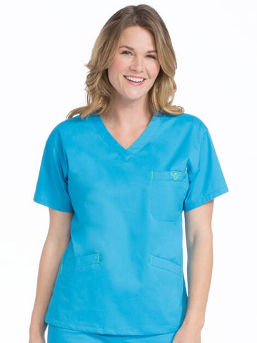 V-Neckline Signature 3 Pocket Top L-3X - Pure Hearts Scrubs