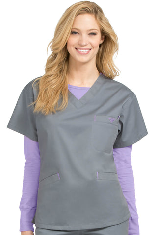 Women's Signature V-Neck Solid Scrub Top