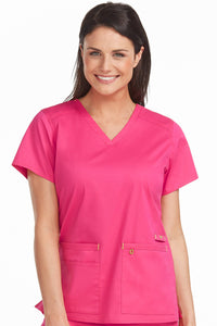 Women's V-Neck Strength Solid Scrub Top