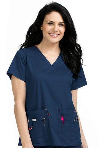Women's Rescue V-Neck Solid Scrub Top