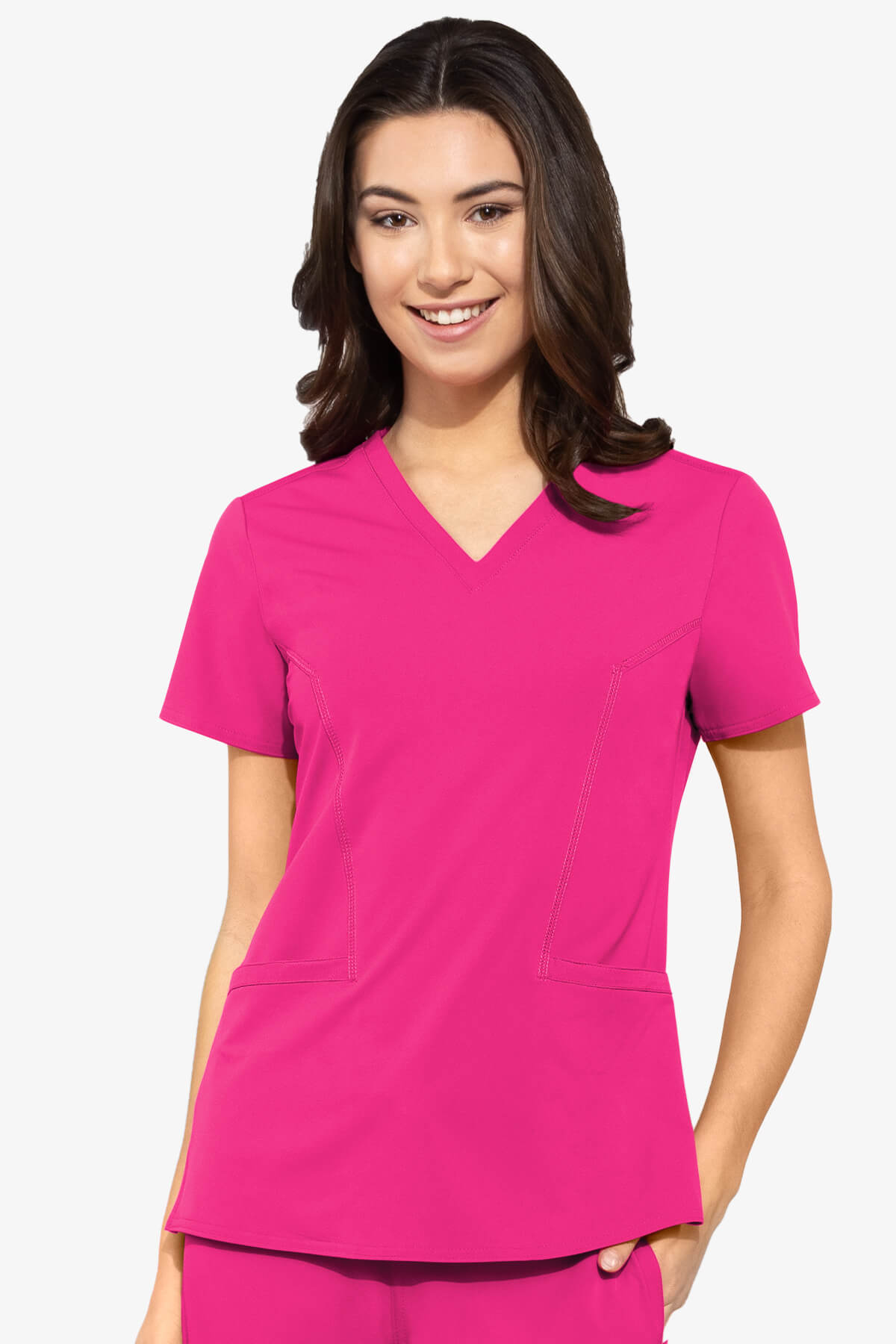 Women's Mirror V-Neck Solid Scrub Top - Pure Hearts Scrubs