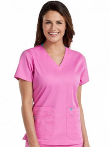 Women's Flex-It V-Neck Solid Scrub Top - Pure Hearts Scrubs