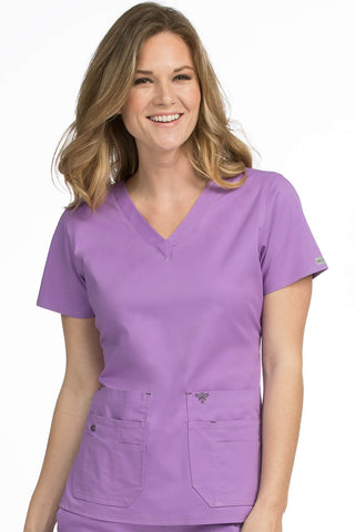 Women's Flex-It V-Neck Solid Scrub Top