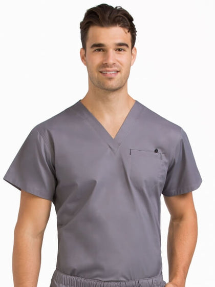 MEN'S V-NECKLINE 1 POCKET TOP - Pure Hearts Scrubs
